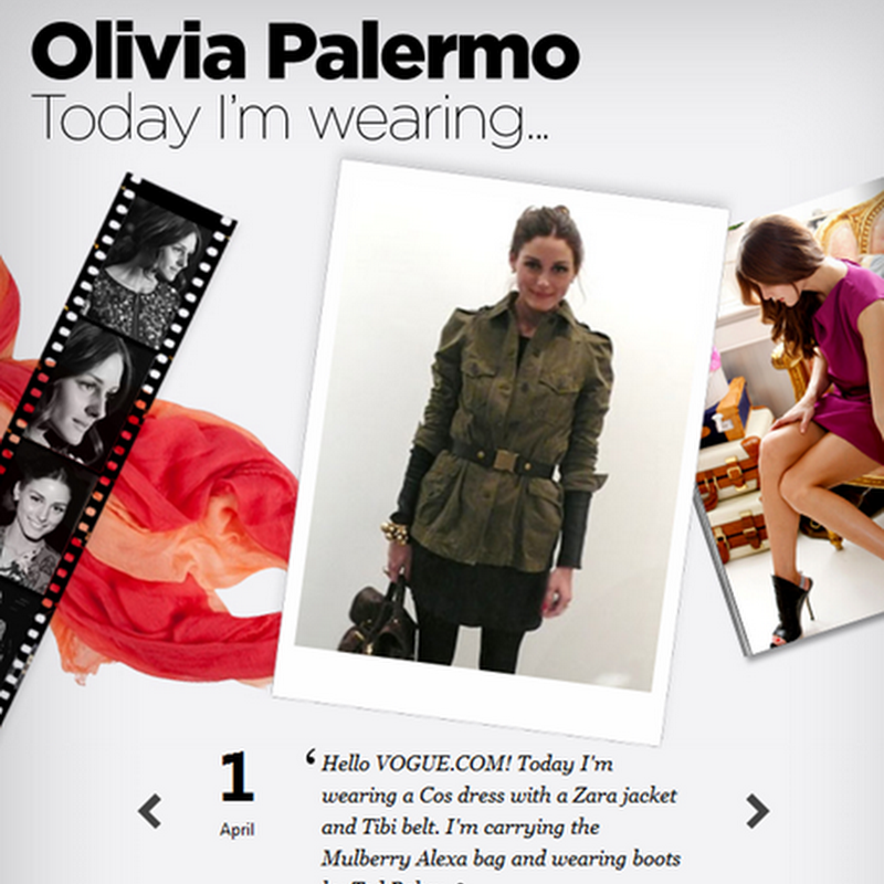 Today I'm Wearing: Olivia Palermo for Vogue UK