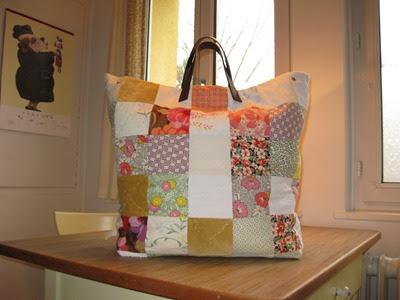 fr ulein otten schritt f r schritt anleitung patchwork tasche. Black Bedroom Furniture Sets. Home Design Ideas