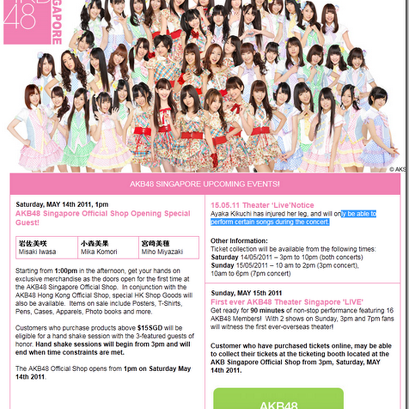 AKB48 to perform regularly in Singapore