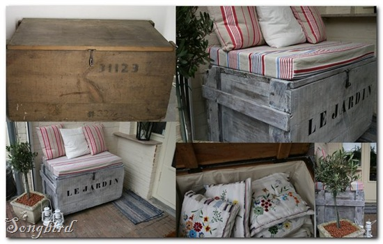 Army trunk collage