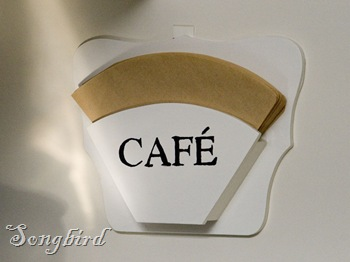Coffee filter container