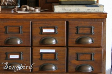 Studio library cupboard
