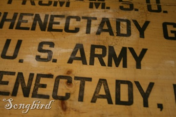Army trunk detail