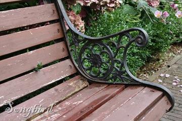 Garden bench ironwork