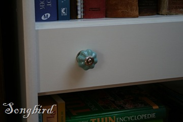 Close up drawer knob