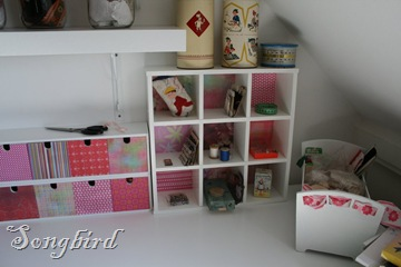 Sewing table corner