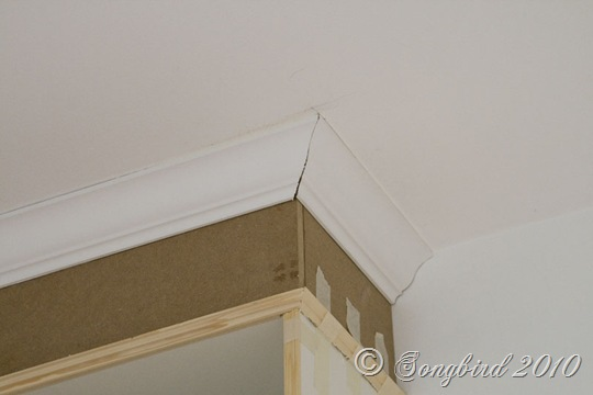 Billy Built-in Bookcase Crown Moulding Detail 2