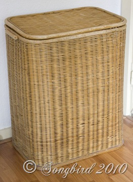 laundry basket makeover before 2