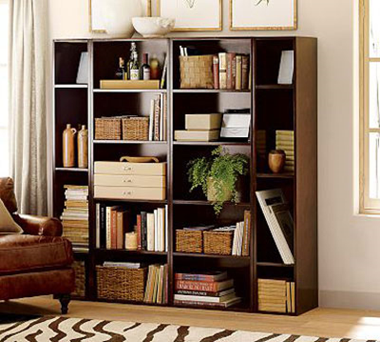 ... compliment each other and the room. Books look good in baskets too