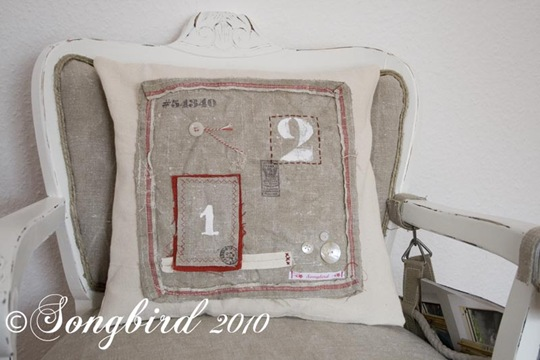 Red Number Pillow 3