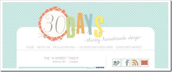 Thirtyhandmadedays