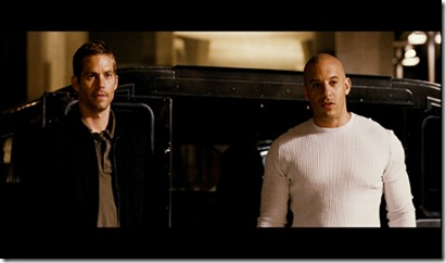 (L to R) PAUL WALKER and VIN DIESEL are Brian O'Conner and Dominic Toretto in Fast & Furious.