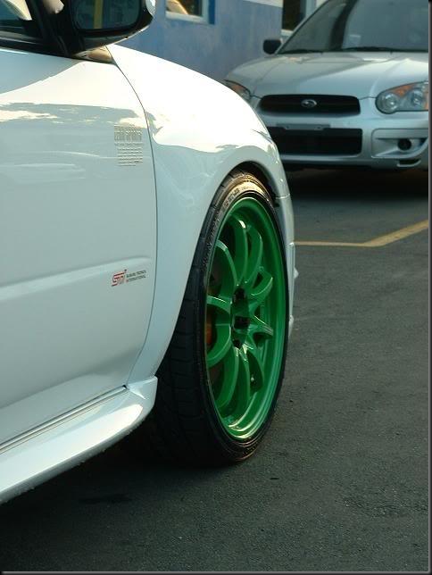 Takata Green Volk CE28N Impreza STI
