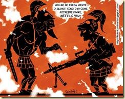 Leonida e spartano sleale alle termopili