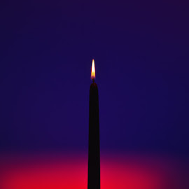 candle light by Louis Heylen - Abstract Fire & Fireworks ( candle, red, blue, light, fire )