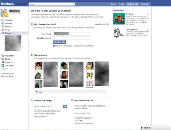 Facebook's New UI
