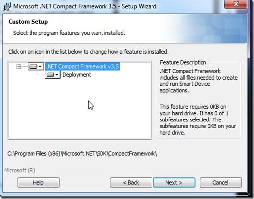 Microsoft .NET Compact Framework 3.5 - Setup Wizard