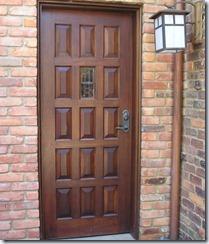 Raised Panel Wood Door with Art Glass