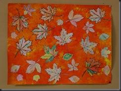 Feuilles d'automne au crayon