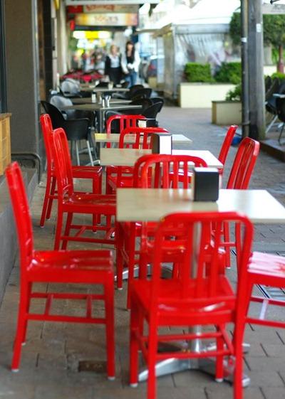 Röda stolar, usfotos