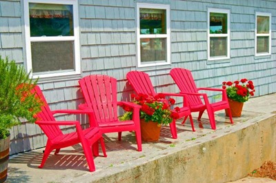 Röda stolar, Fine art america