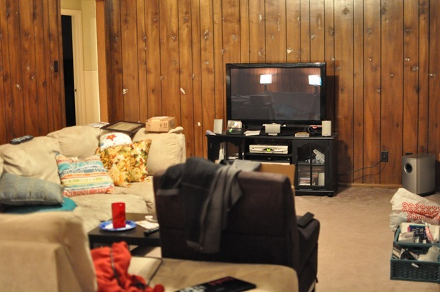 How to paint wood paneling diy instructions monica Painting paneling in basement