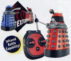 Blue and Red Daleks