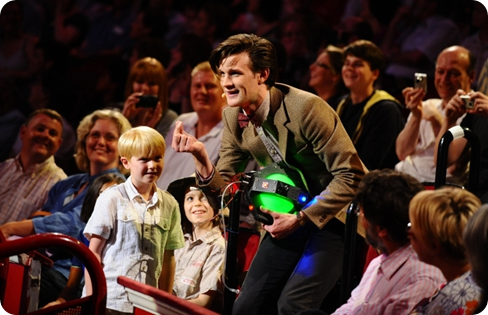 Matt Smith as the Doctor with Ellis