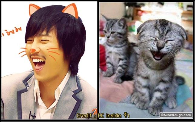 คิมนัมกิลหัวเราะเหมือนแมว