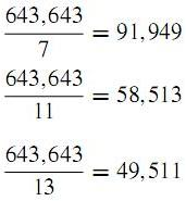suprising number pattern 11