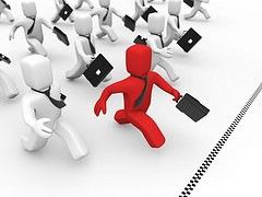 La corsa degli uomini d'affari