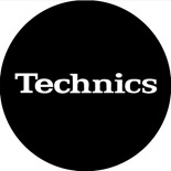 Technics Slipmats (black with white logo)