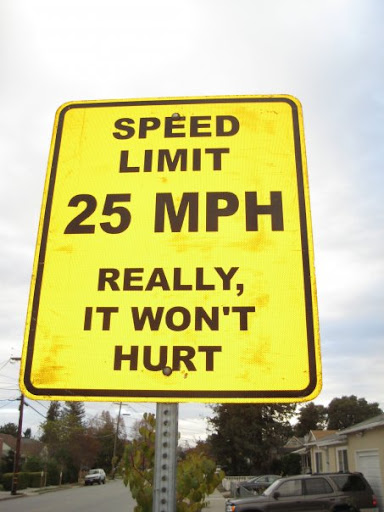 Funny Speed Limit Signs Things as speed limits