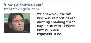 Charlie Sheen FB Ad