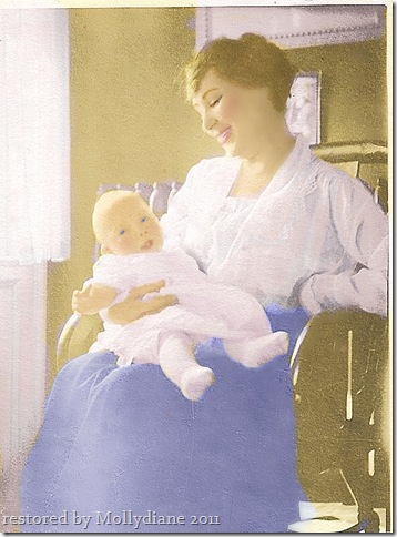 Nellie Patten (infant) and Jean Canady  1901
