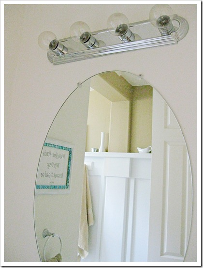 Changing the bathroom light fixture domestically speaking