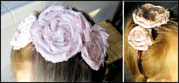 scrap flower headband copy