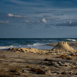 Sand Castle by Jean Claude Hebert - Landscapes Beaches ( obx, outer banks, mer, rodanthe nc )