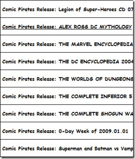 comics pirates releases
