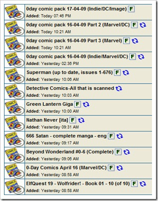 comic torrent tracker screen