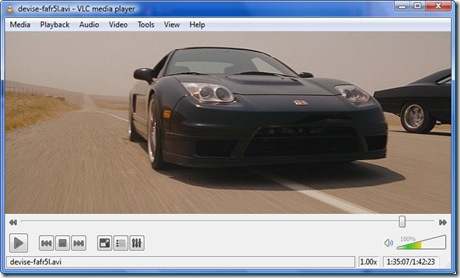 VLC 1.0.0 Screenshot