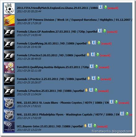 SportHD Index