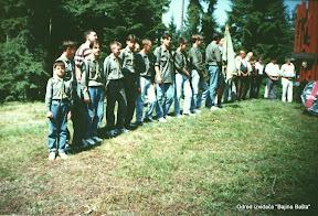 Borovo Brdo-Svecano polaganje zakletve novih clanova odreda 1994.jpg