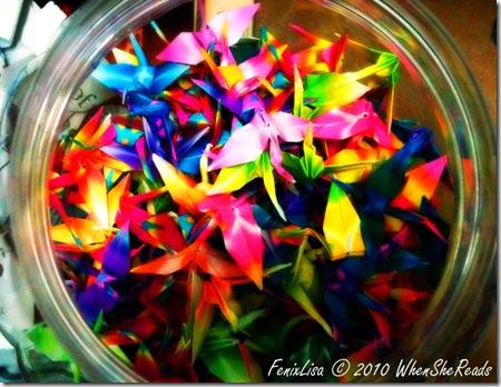 1000 Cranes in a jar