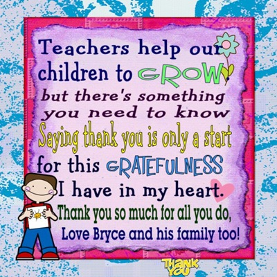 Teachers help our children to grow