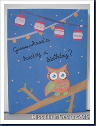 Whooo's Having a Birthday - Front