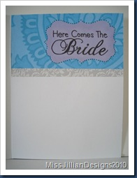 Here Comes The Bride - Inside