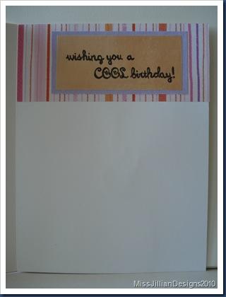 Cool Birthday - Inside