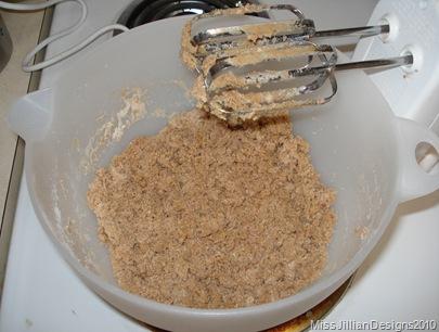 flour mixture + espresso mixture = dough