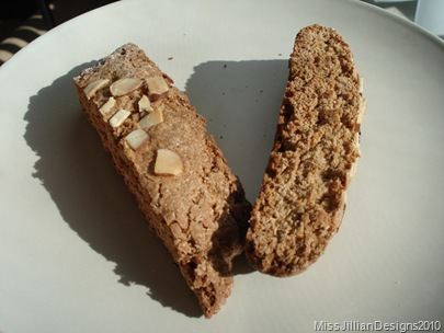 biscotti on a plate ready to be eaten